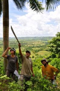Miguel Landestoy points the way to prime sphaero habitat.